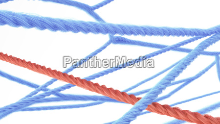 netzwerk der strings 3d rendering