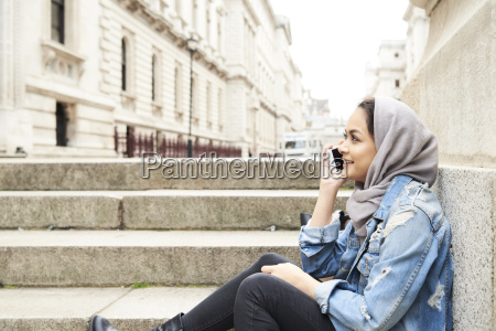 uk england london young woman wearing