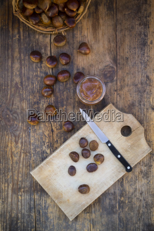 sweet chestnuts roasted and sweet chestnut