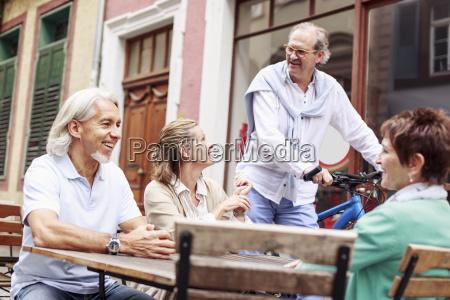 germany heidelberg senior friends in a