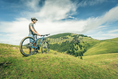germany bavaria pfronten young man with
