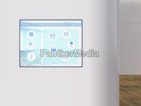 smart home app auf digitalem tablet