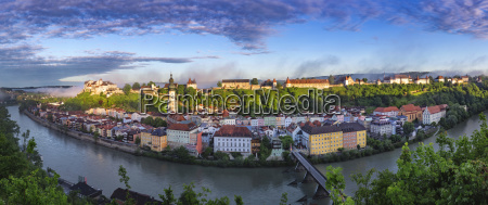 germany bavaria burghausen panoramic city view