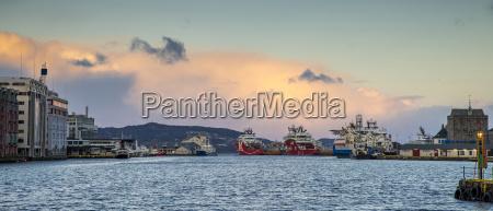 norway hordaland bergen harbour