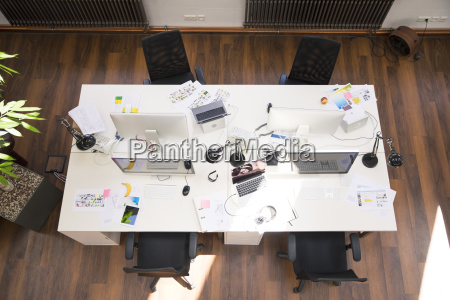 desks with pcs in bright and