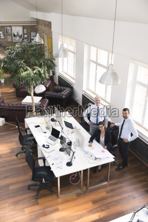 team of business people in planning