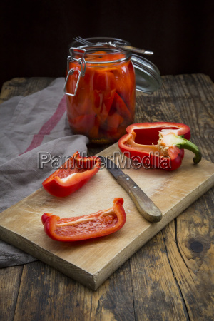 pickled roasted bell pepper