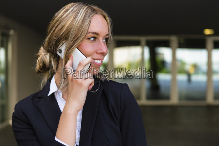 portrait of smiling businesswoman on the