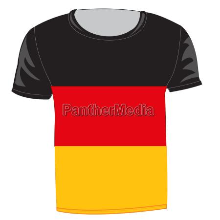 flag germany on cloth