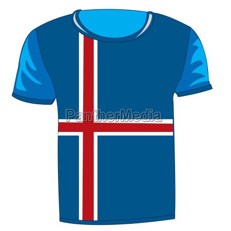cloth with flag iceland