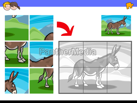 jigsaw puzzles with donkey farm animal