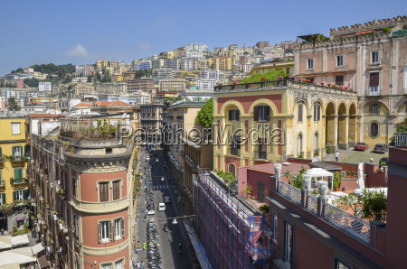 elevated view of traditional buildings and