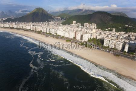 high angle view of long sandy