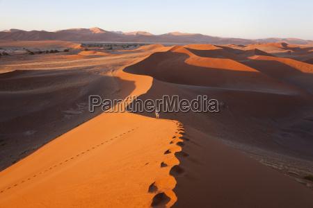 aerial view of desert landscape distant