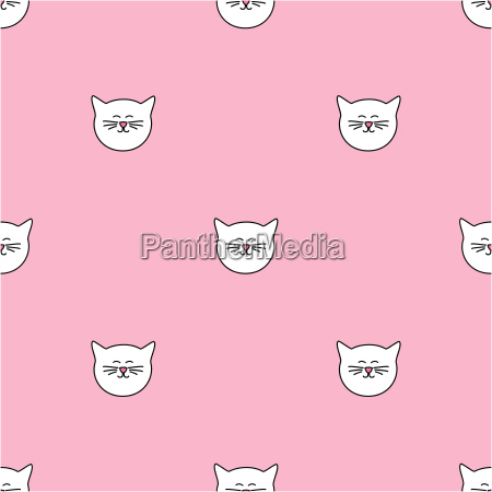 tile vector pattern with cats on