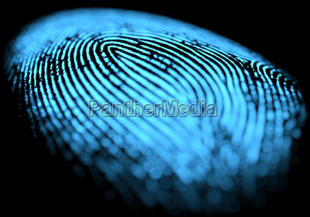 fingerprint over black
