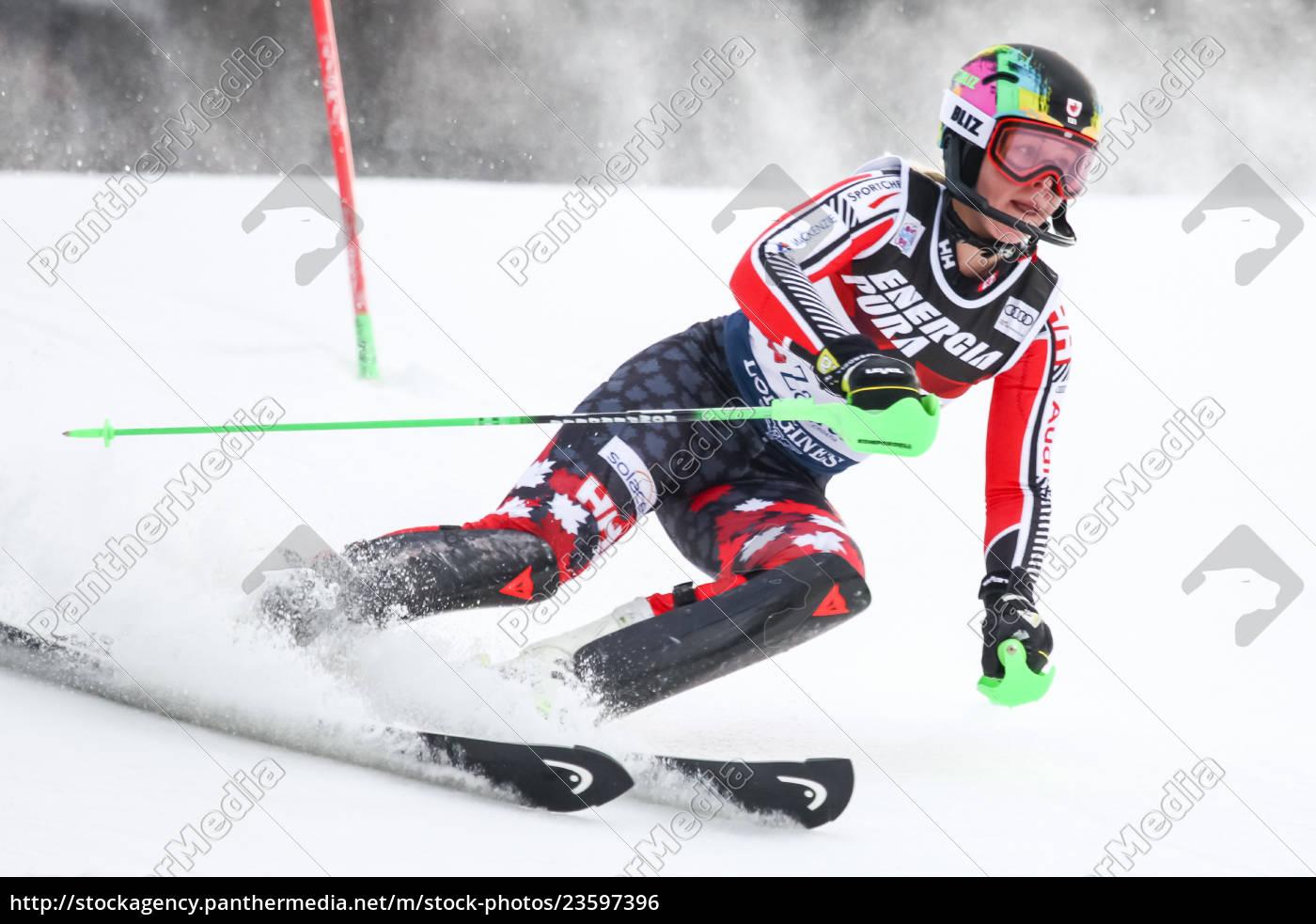 audi fis weltcup damen slalom - Lizenzpflichtiges Bild ...