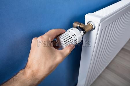 handanpassungstemperatur auf thermostat