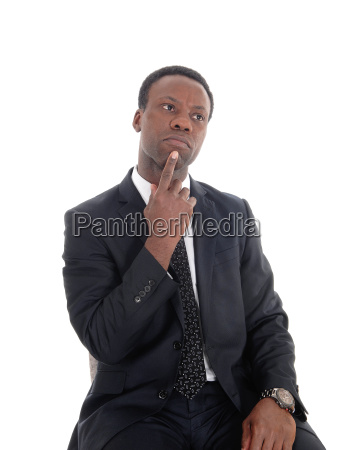 african business man thinking