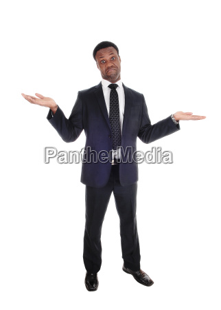 business man gesturing i dont know