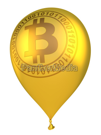 inflatable ball with bitcoin