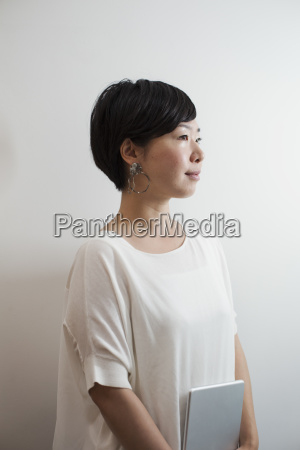 profile view of woman with sort