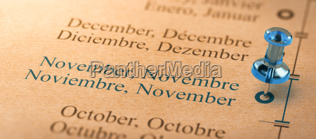 focus on november months of the
