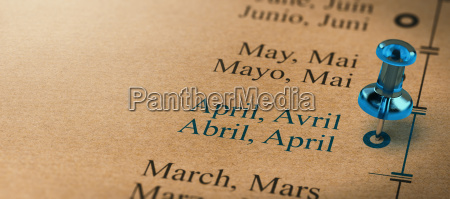 focus on april months of the