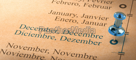 focus on december months of the