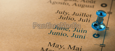 focus on june months of the