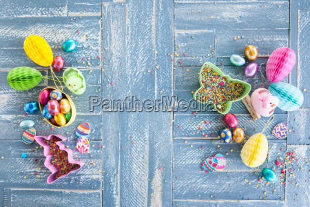 colorful suessigkeiten at easter