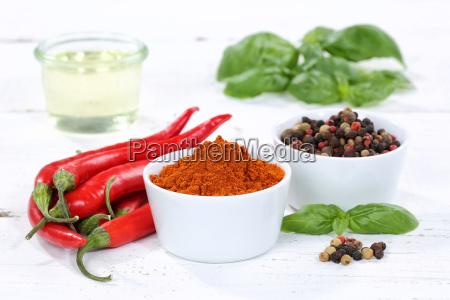 gewuerze kochen zutaten paprika pulver paprikapulver