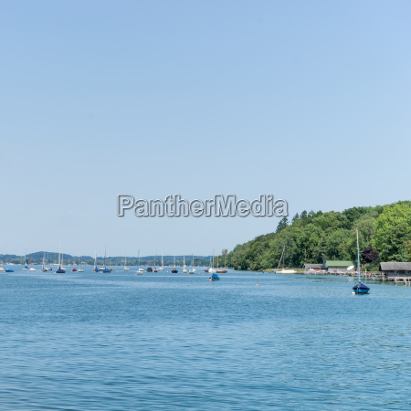 sailing boats on the lake starnberg