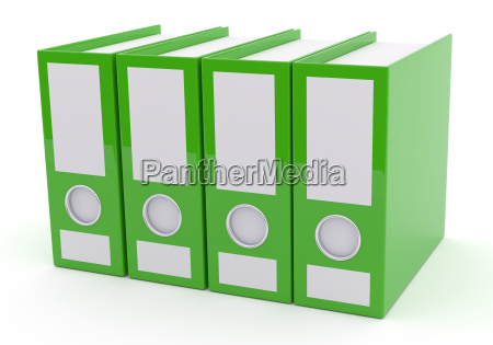 green folder on white 3d rendering