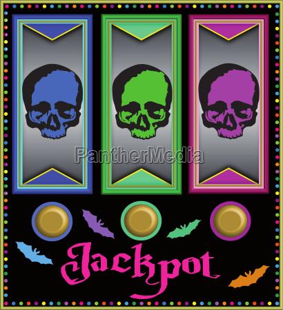 slot machine spielautomat mit skulls