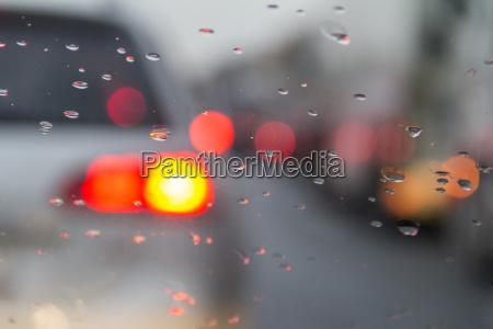 blurry dusky highway scenery