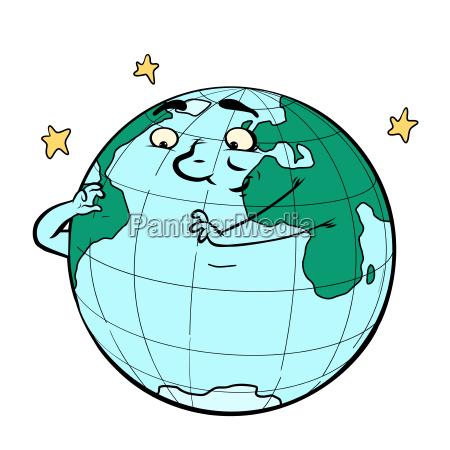 charakter planet erde denkt oekologie und