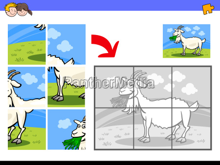 jigsaw puzzles with goat farm animal