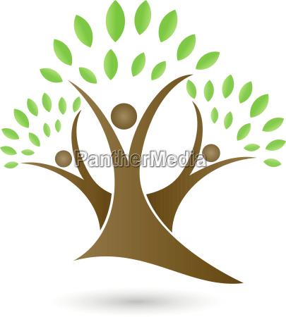 baum pflanze menschen heilpraktiker logo