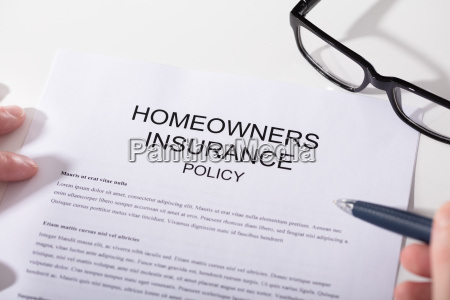 close up of homeowners insurance policy