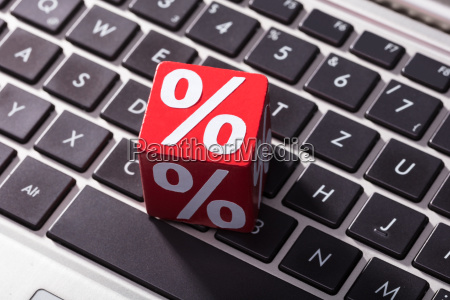 percentage red block on laptop keypad