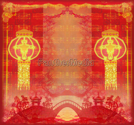 chinese new year card traditional