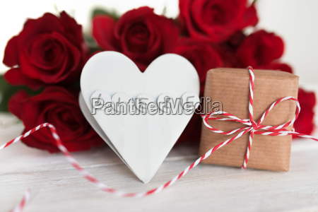 bouquet of red roses with a