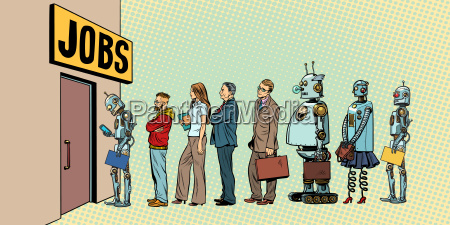 wettbewerb von menschen und robotern fuer