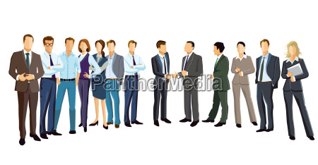 group picture with diverse business people