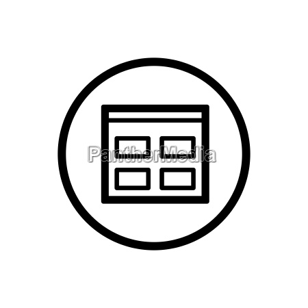 catalogue line icon in a circle