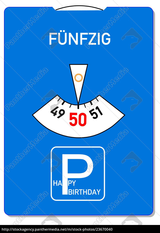 Geburtstagskarte 50
