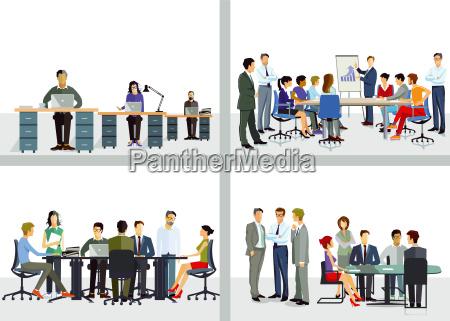 zusammenarbeit im unternehmen und buero