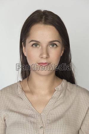 portrait of beautiful mid adult woman