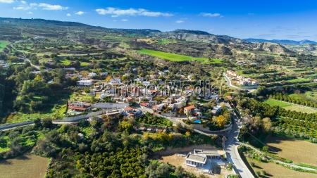 aerial goudi paphos cyprus